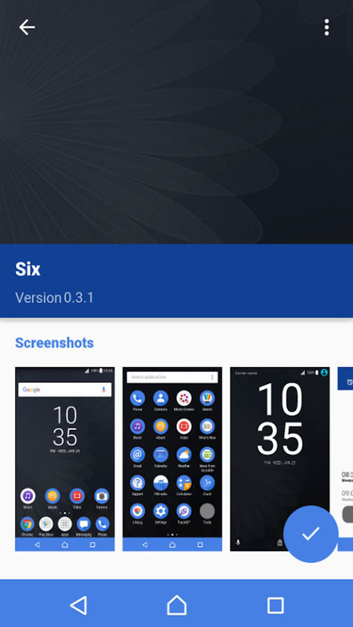 Six - [Xperia]- screenshot