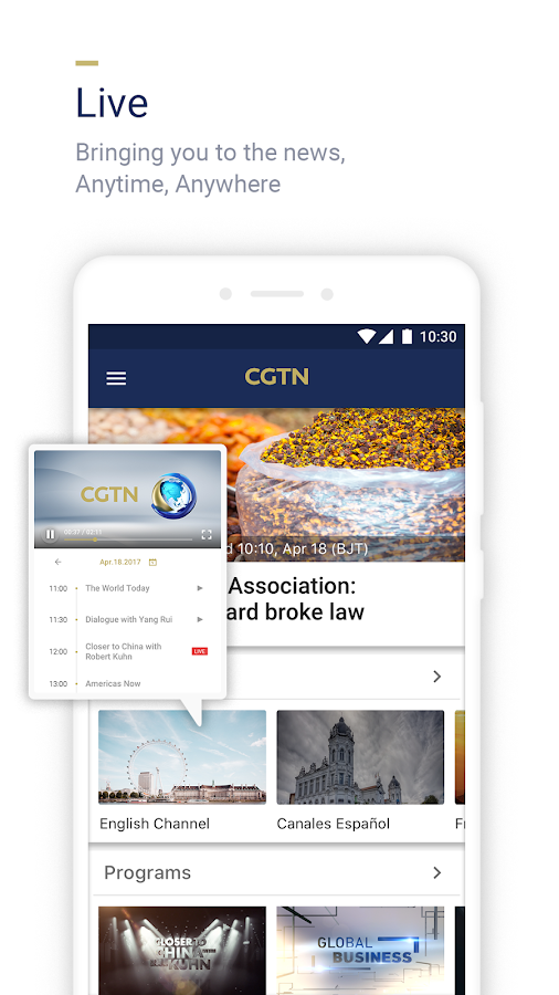 CGTN – China Global TV Network- screenshot