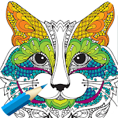 Adult Coloring Book:Animals