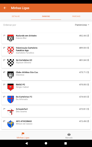 Foto do Cartola Futebol Plus