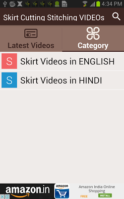 Skirt Cutting Stitching VIDEOs - screenshot