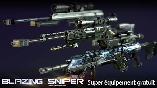 Blazing Sniper - offline shooting game  captures d'u00e9cran 2