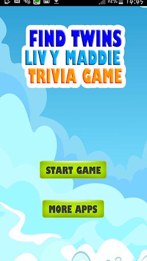 Find Twins Liv y Maddie Trivia
