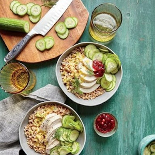Weight Watchers Tangy Chicken-Farro Bowl