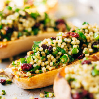 Stuffed Butternut Squash with Curried Couscous Salad.