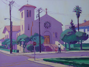 Photo: St. Peter Martyr, Pittsburg, acrylic by Nancy Roberts, copyright 2014. Private collection.