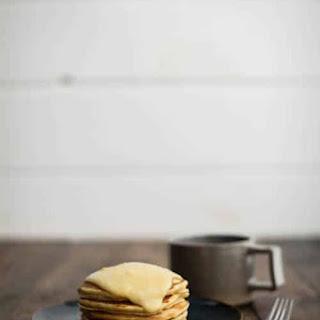 Cornbread Pancakes with Maple-Lemon Curd.