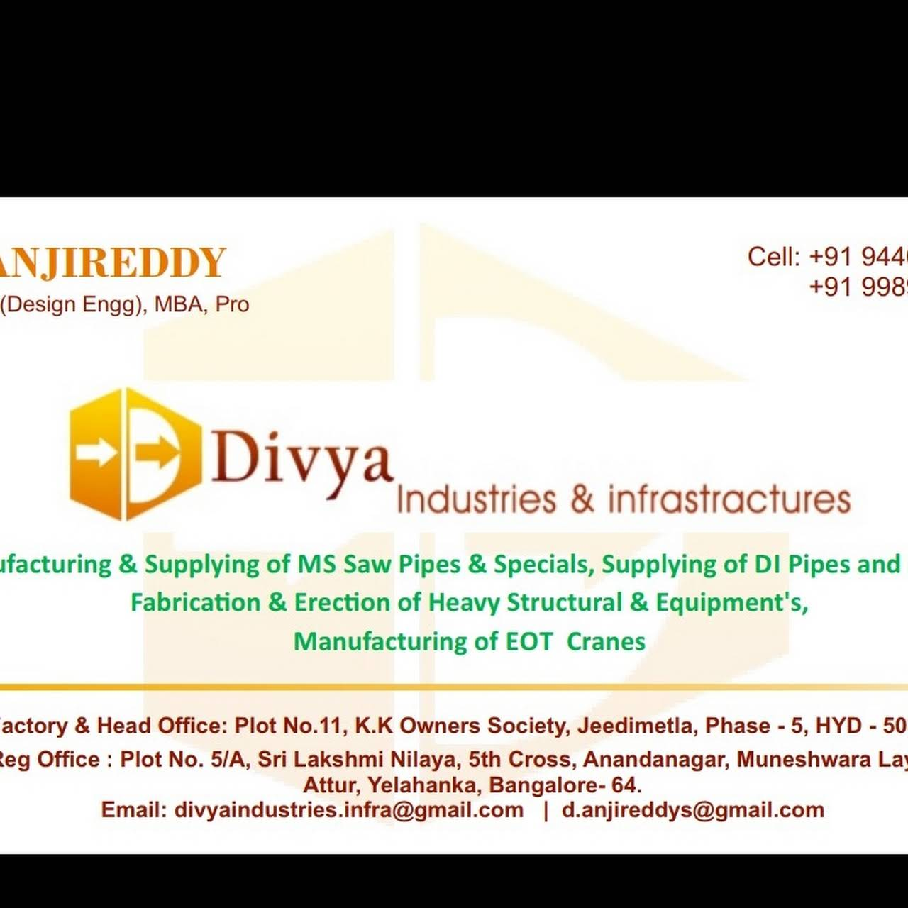 DIVYA INDUSTRIES AND INFRASTRUCTURES - Fabrication Engineer