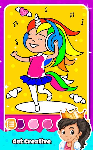 Princess Coloring Book for Kids & Girls Games ud83cudfa8  screenshots 1