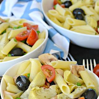 Marinated Artichoke Hearts Pasta Salad.