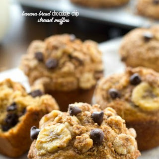 Banana Bread Chocolate Chip Streusel Muffins.