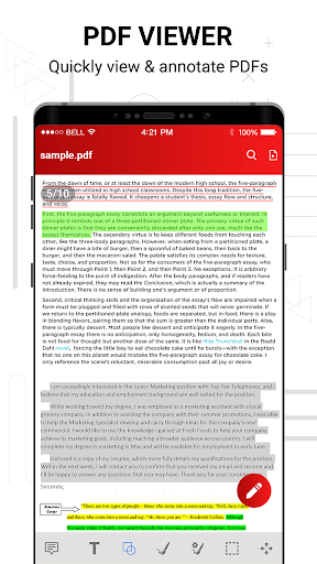PDF reader screenshot 3