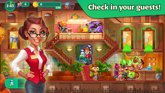 Grand Hotel Mania MOD APK 1.8.5.1 [Unlimited Coins, Gems] 2