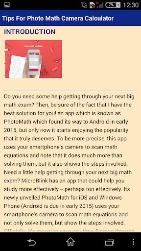 Tips For Photo Math Camera Calculator APK download | APKPure co
