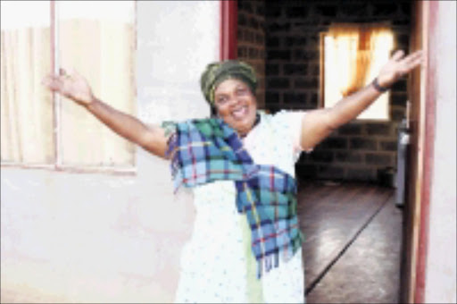 DOGGED: Mbazi Dlamini did not let lack of education get in the way of her battle to have 150 decent houses built at Ceza village in KwaZulu-Natal. 27/05/09. Pic. Thuli Dlamini. © Sowetan.