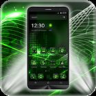ハイテクグリーンランチャーテーマ icon