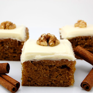 Sweet Potato Bars with Cream Cheese Frosting.