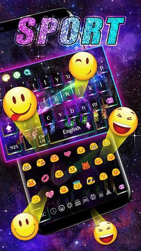 Keyboard theme for Sports 10001001 screenshots 3