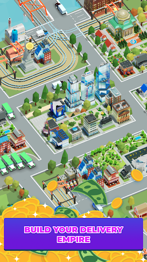 Idle Delivery City Tycoon: Cargo Transit Empire apkmr screenshots 6