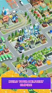 Idle Delivery City Tycoon: Cargo Transit Empire Mod Apk (Unlimited Money) 6