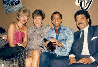 Photo: Hanging @ Saxophone 1987: Debbie Gardner, Frederique Deleage, Richard Da Silva & Gopal Lalchandani