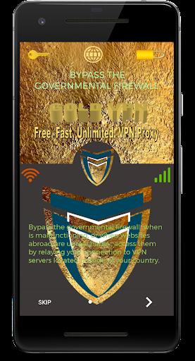 Gold VPN u2013 Free, Fast, Unlimited, VPN Proxy 1.0 screenshots 2