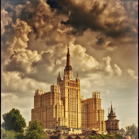 Stalin skyscrapers by Vladislav Kosolapov - Buildings & Architecture Public & Historical ( building, tower, structure, moscow, high-rise, attraction )