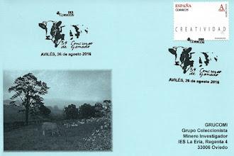 Photo: Tarjeta del matasellos del 134 concurso de ganado de Avilés, 2016