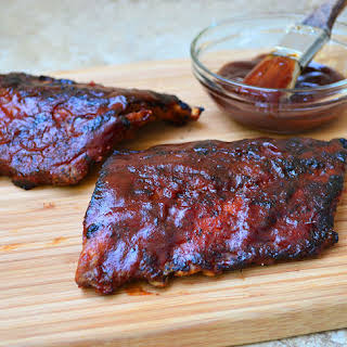 Barbecued Baby Back Ribs.