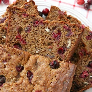 CRANBERRY BANANA BREAD.