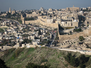 Photo: City of David and the old city walls