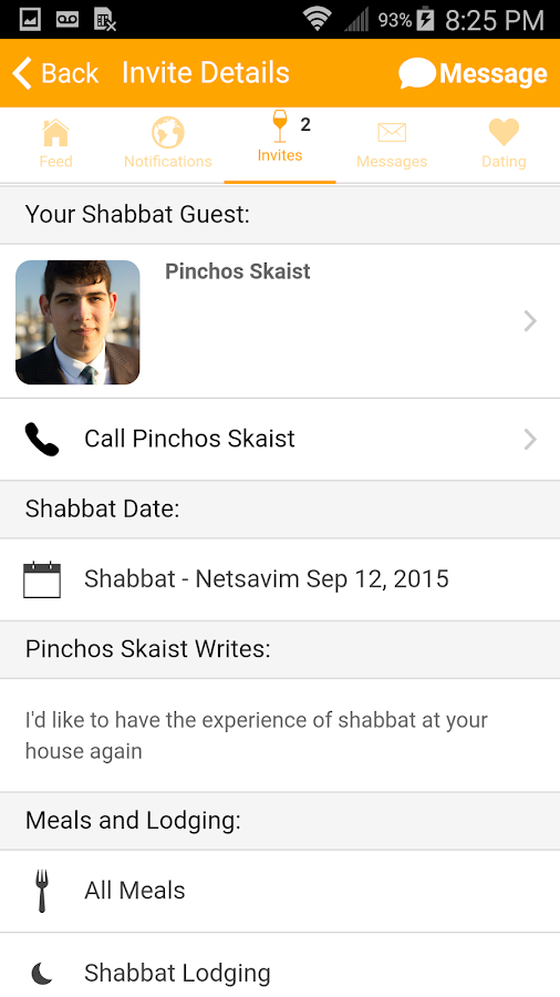 Shabbat.com by Rabbi Klatzko- screenshot