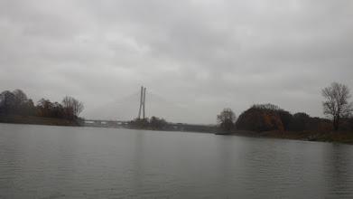 Photo: Most Rędziński, po lewej śluza, po prawej jaz