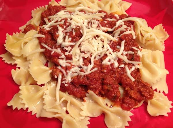 Duck In A Bowtie!.....rich Ground Duck Bolognese On Bowtie Pasta