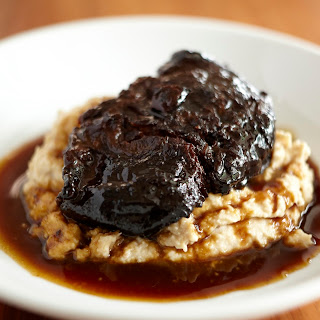 Beef cheeks with Pedro Ximenez.