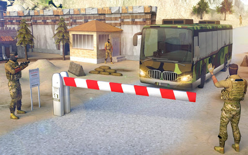 indian army bus driving: military truck mission 1.0 screenshots 2