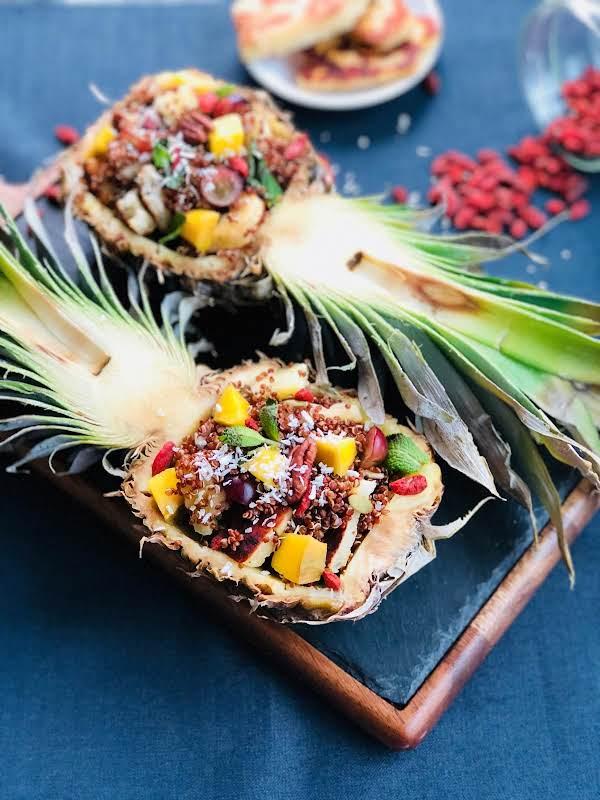 Red Quinoa, Pineapple, And Halloumi Cheese Salad Recipe