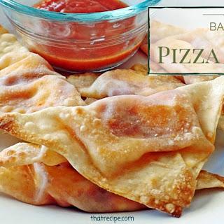 Baked Pizza Gyoza
