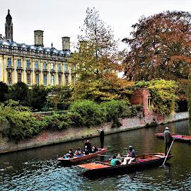 River Cam, Cambridge by Jake Mottram - Uncategorized All Uncategorized ( punting, england, river cam, cambridgeshire, canoe, cambridge )