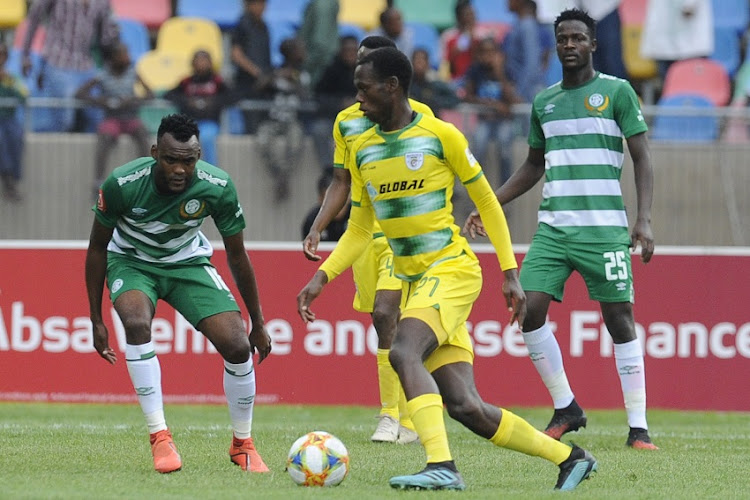 Evidence Makgopa of Baroka during the Absa Premiership match between Bloemfontein Celtic and Baroka FC at Dr Molemela Stadium on March 01, 2020 in Bloemfontein, South Africa.
