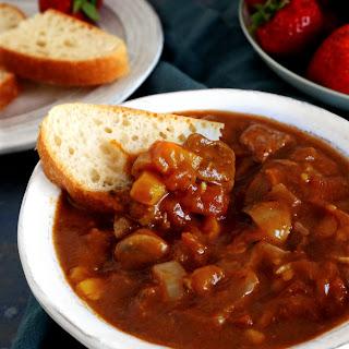 Root Veggie Beef Stew in the Slow Cooker.