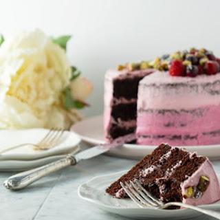 Two Tone Pink Chocolate Cake (Dairy-Free, No Dye, Low Sugar, Low Gluten) Recipe