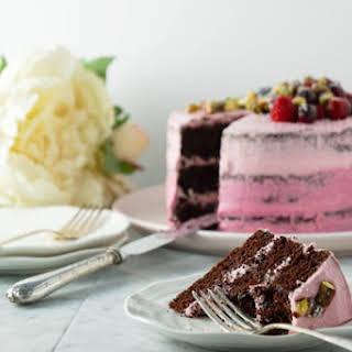 Two Tone Pink Chocolate Cake (dairy-free, No Dye, Low Sugar, Low Gluten).