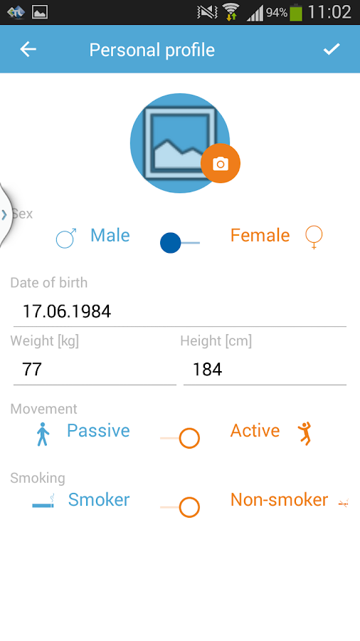 Health Diary- screenshot