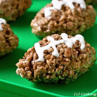 Cocoa Rice Krispies Football Treats