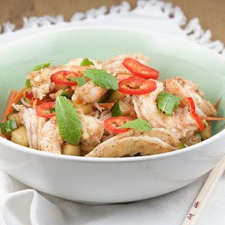 Asian Noodle and Shrimp Salad Recipe