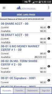 Gulf Shore FCU Mobile Banking screenshot 1