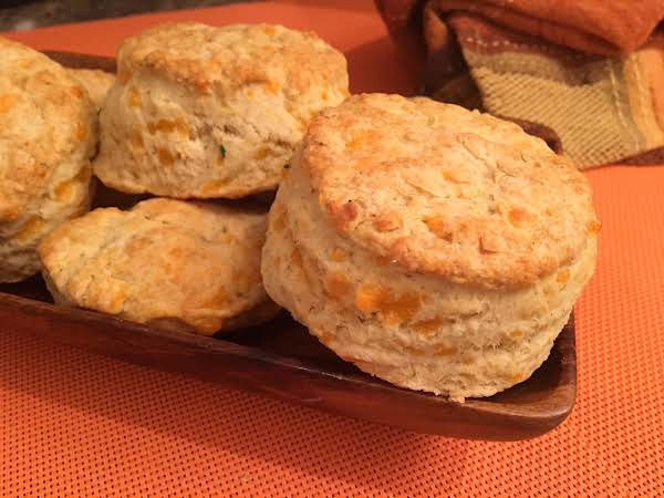 Biscuits On A Wooden Serving Dish.