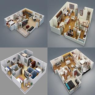 3D Home Floor Ideas - náhled