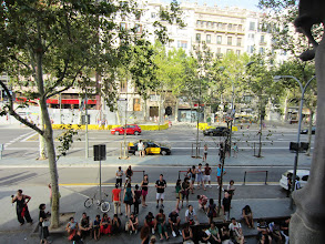 Photo: View of the Passeig de Gracia from the house